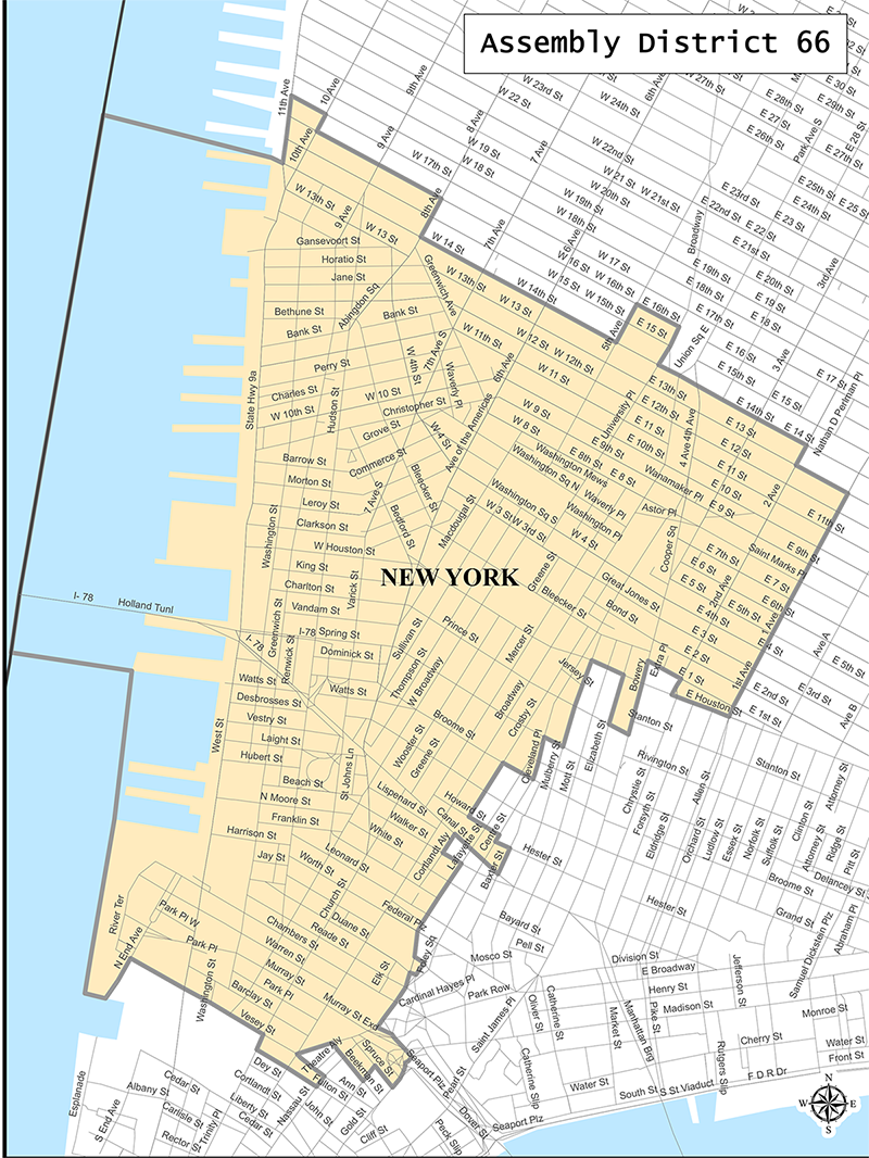 NYS 66th Assembly District Map